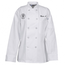 Ladies' 10 Button Chef Coat