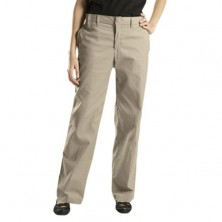 Ladies' Flat Front Khaki Pants by Dickies