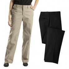 Ladies' Flat Front Pants by Dickies