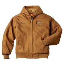 Carpentry Duck Cloth Hooded Work Jacket