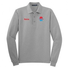 HVAC Men's Long Sleeve Polo Shirt